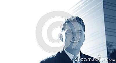 Bedrijfs mens met een glimlach