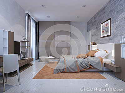 bedroom art deco style stock illustration image 59250802