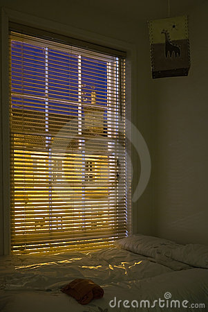 Free Bedroom At Night Stock Photography - 6914262