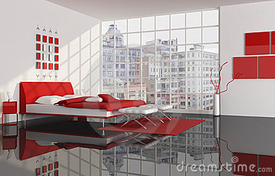 Bedroom of a city apartment