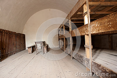 A bedroom in a concentration camp