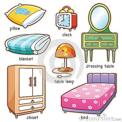 Bedroom element Vector Illustration