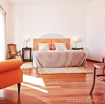 Bedroom furniture, bed interior.