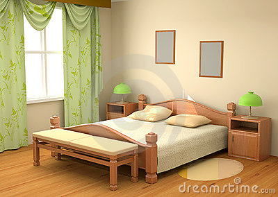 Bedroom interior 3d