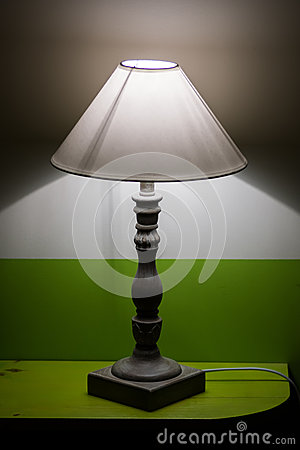 bedroom interior small electric lamp royalty free stock