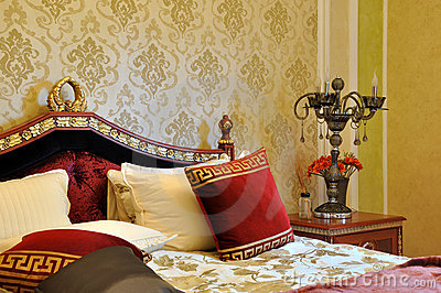 Bedroom in luxuriant and exquisite style