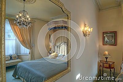 Bedroom in a mirror