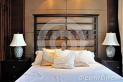 Bedroom in oriental decoration style