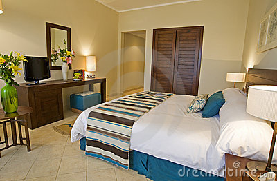 Bedroom showing interior design