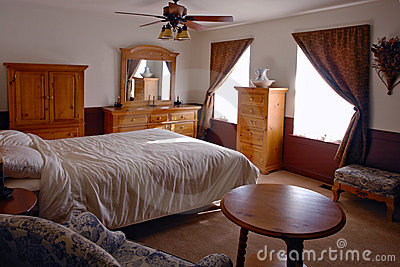 Bedroom in a Traditional American Home