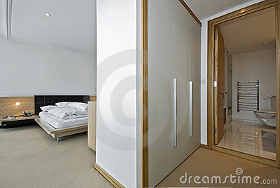 Bedroom with a walk in wardrobe