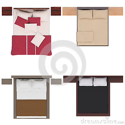 Bed furniture top view furniture top view stock illustration image