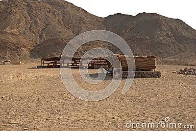 Beduin tent village in Egypt