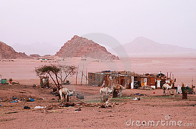 Beduins village in Sinai mountains