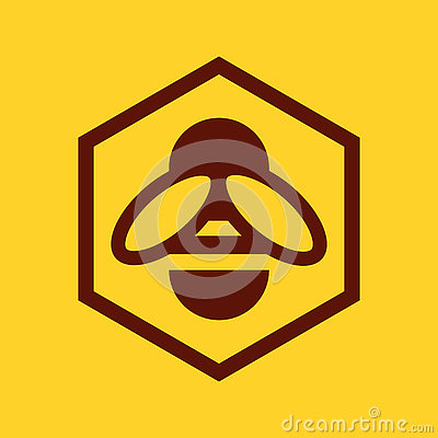 Free Bee And Honeycomb Icon Stock Images - 79426424