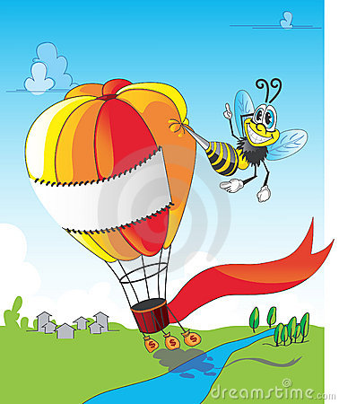 Bee and balloon