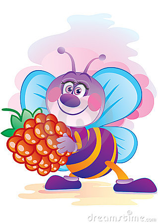 Bee with a berry