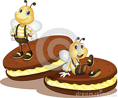 Bee biscuits