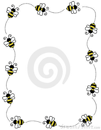 Free Nature Picture Downloads on Bee Border Frame Royalty Free Stock Image   Image  12202246