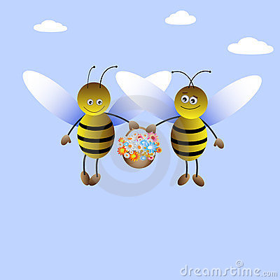 Bee-boy and bee-girl