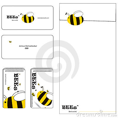 Bee family stationery set