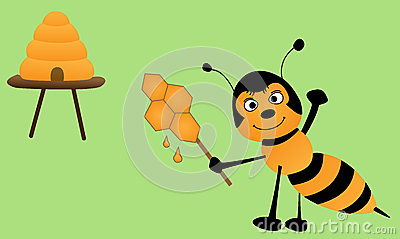 Bee and lollipop