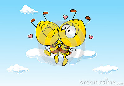 Bee In Love Kissing - Cute Illustration Stock Vector - Image: 42702441