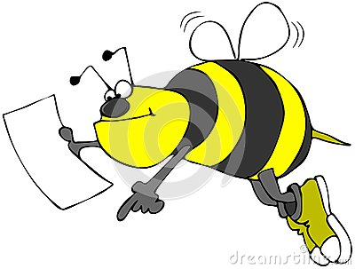 Bee with a map