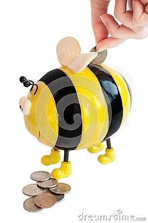Bee moneybox