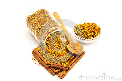 Bee Pollen and cinnamon