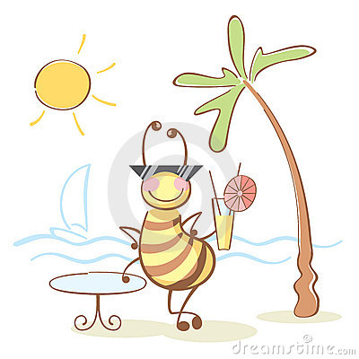 Bee On The Rest Royalty Free Stock Photography - Image: 12010317