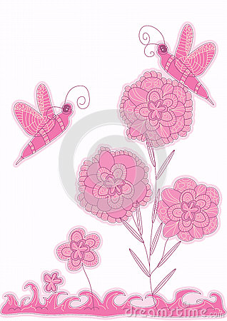 Bee Shape Style Flower Card_eps