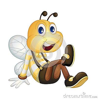 Bee sitting
