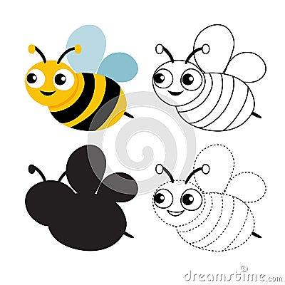 Free Bee Worksheet Vector Design Royalty Free Stock Image - 124266816