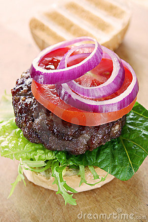 Free Beef Burger Royalty Free Stock Photography - 12086257