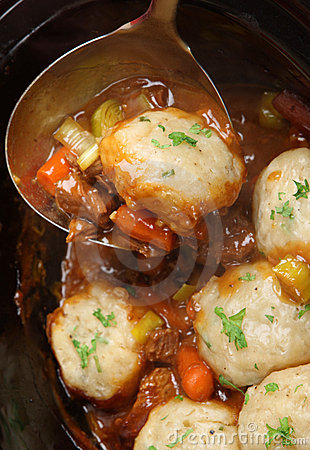 Free Beef Casserole With Dumplings Royalty Free Stock Photography - 11529657
