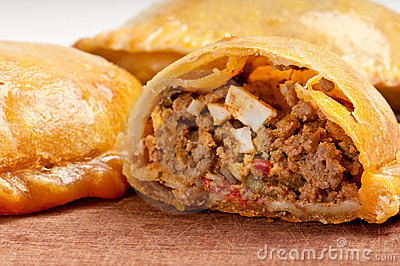 Beef empanada close-up