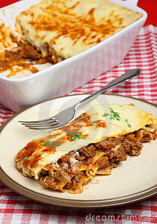 Beef Lasagna or Lasagne Meal