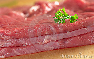 Beef Meat with Parsley Leaf