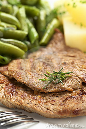 Beef Meat Slices with Rosemary