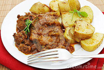 Beef and potato curries