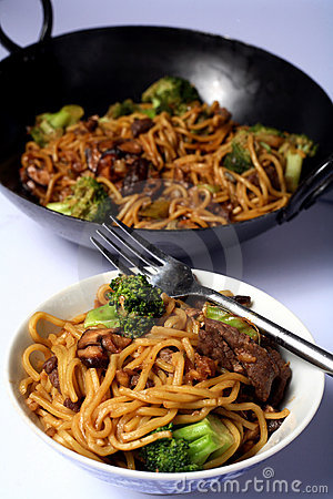 Beef ramen egg noodles in bowl