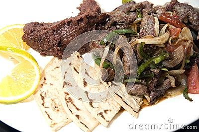 Beef stir fry beans tamales Nicaragua