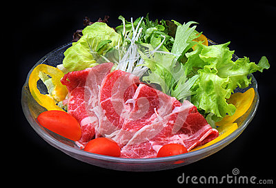 Beef and vegetables salad
