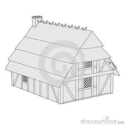 Beeld van middeleeuws huis stock foto 39 s afbeelding 35869713 - Beeld van eigentijds huis ...