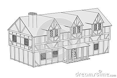 Beeld van middeleeuws huis stock afbeeldingen afbeelding 36196274 - Beeld van eigentijds huis ...