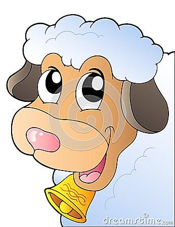 Beeldverhaal dat schapen sluimert