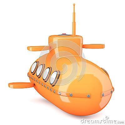 Beeldverhaal-gestileerde onderzeeër