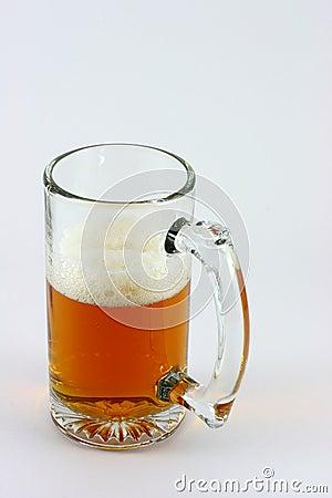 Half a mug of beer