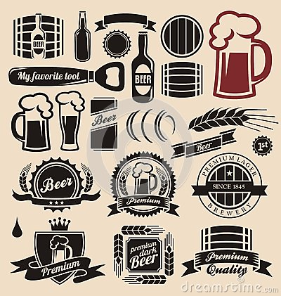 Free Beer And Beverages Design Elements Collection Royalty Free Stock Photos - 27375418